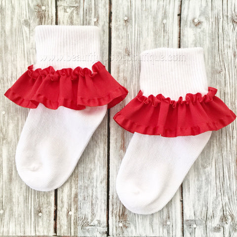 Custom Ruffled Sock Pageant Socks Little Girl or Baby Gift