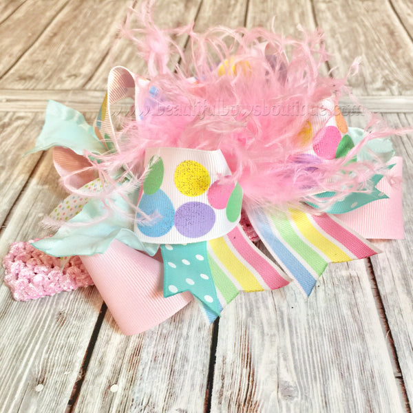 Easter OTT Bows,Over the Top Bows Easter,Pastel Easter Bows