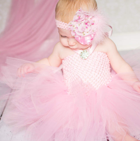 Buy Fancy Solid Light Pink Baby Toddler Tutu Dress Online