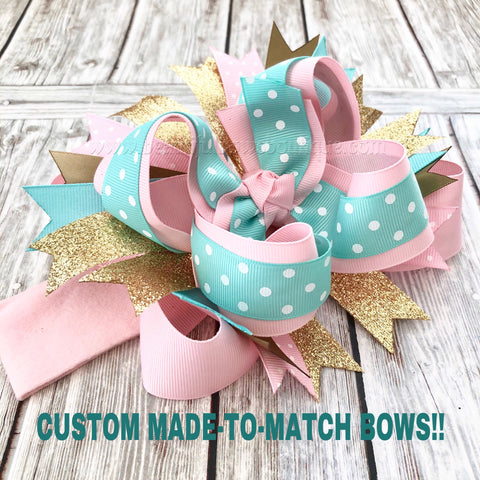 Custom Stacked Hair Bow, Made to Match Stacked Bows