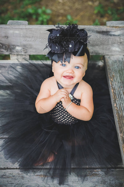 Buy Solid Black Over the Top Hair Bow Baby Headband,Black Bow Headband Online