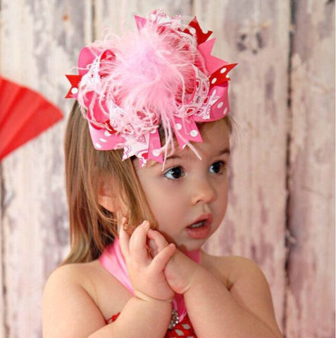 Buy Red and Pink Valentine Bows,Over the Top Bows Valentines Day Online