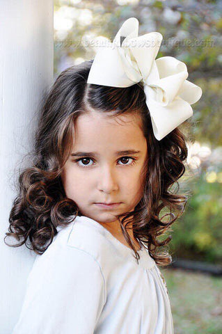 Buy Extra Large Cream Hair Bow, Ivory Hair Bow Texas Size Online