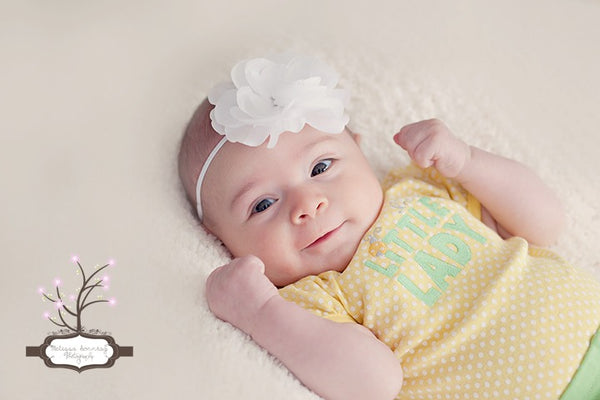 White Glamour Bitty Flower Headband