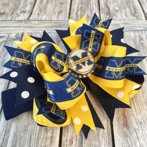 Buy Michigan Baby Headband, University of Michigan Bows, College Hair Bows Online