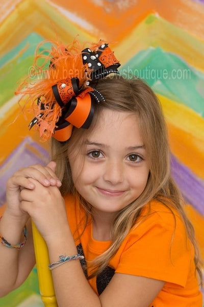 Buy Over the Top Halloween Holiday Swirls Bengals Girls Hair Bow Clip or Headband Online