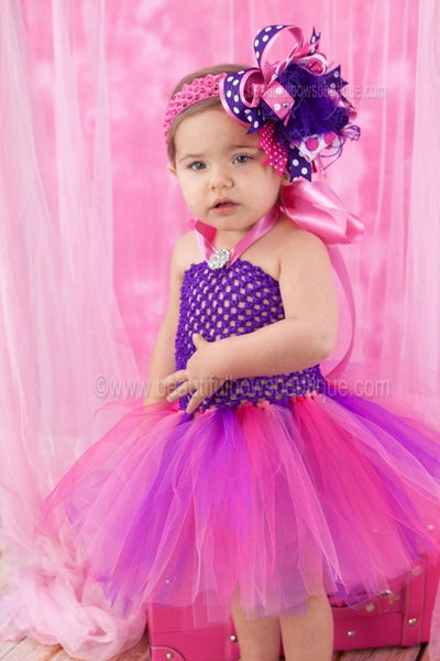 Buy Fancy Purple and Hot Pink Baby Toddler Tutu Dress Online