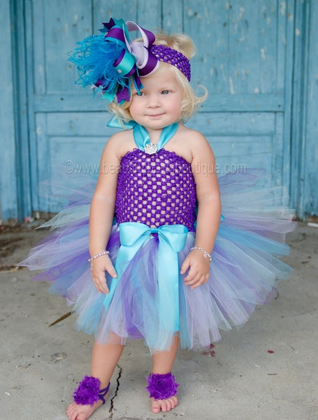 Buy Fancy Peacock Purple Infant Baby Tutu Dress Online