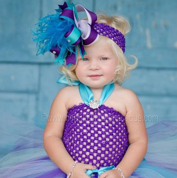 Fancy Peacock Purple Infant Baby Tutu Dress