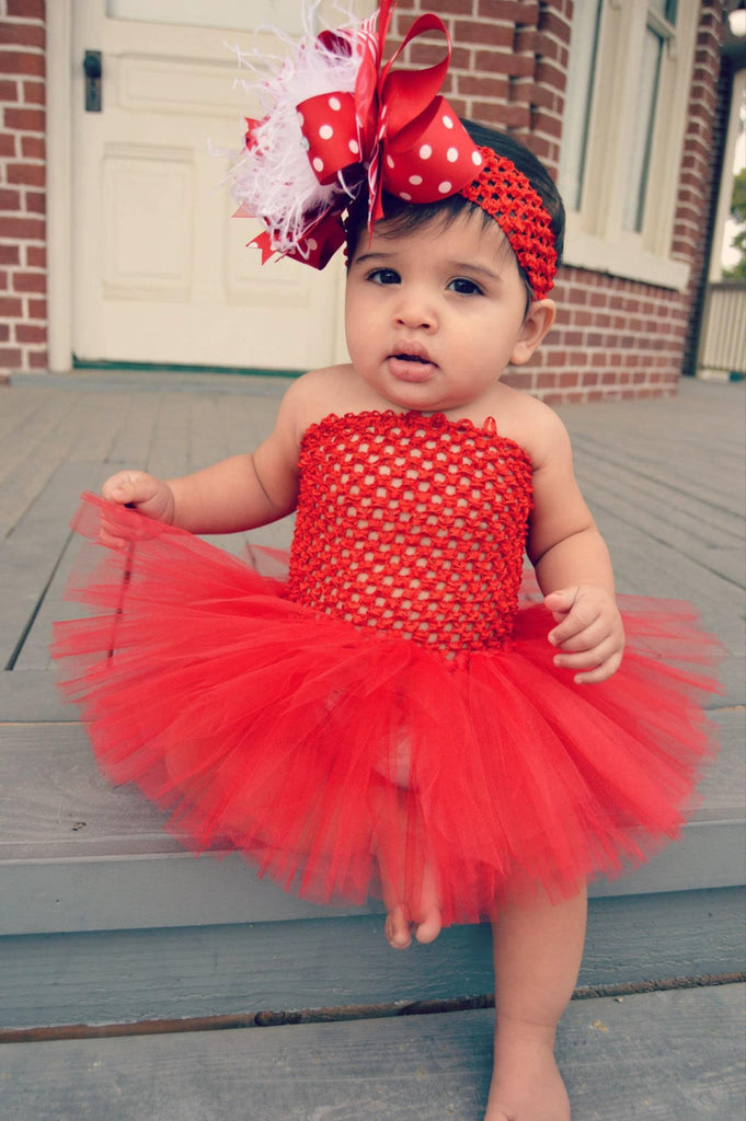 d2696e4caac3 Buy Holiday Solid Red Tutu Dress for Babies Toddlers Online at ...