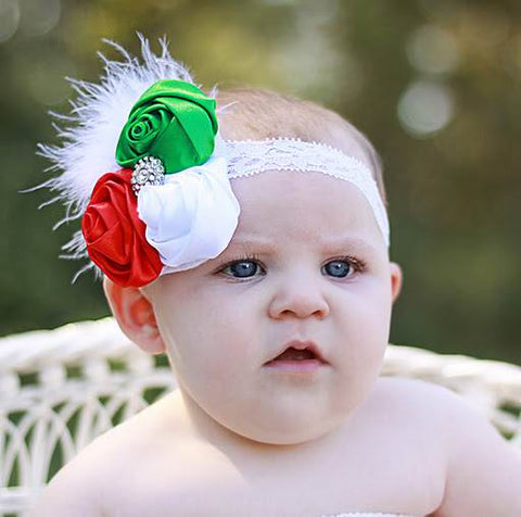 Lace Vintage Christmas Rose Flower Headband