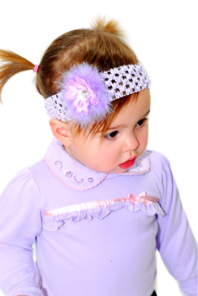 Buy Fluffy Lavender Marabou Feather Daisy Clip or Headband Online