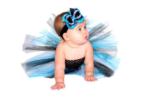 Toddler Infant Baby Turquoise Zebra Tutu Dress