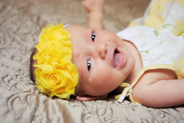 Mia Rose Yellow Bitty Flower Headband