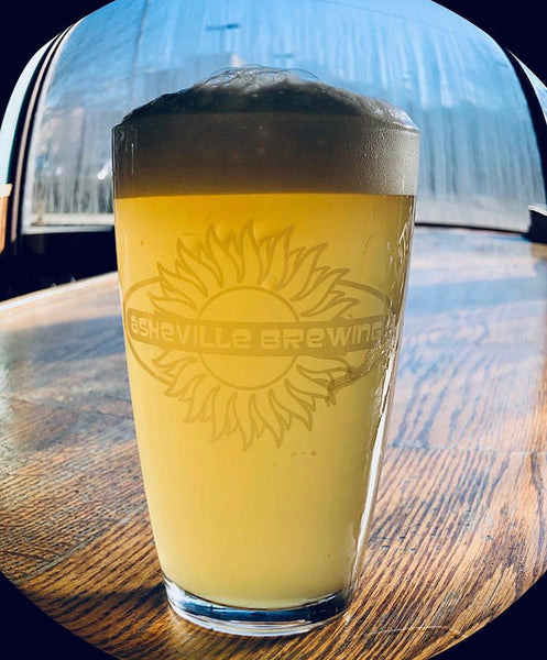 Etched Sun Logo Pint Glass