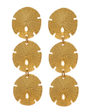 Sand Dollar Triple Drop Earrings