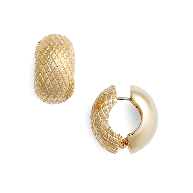 Snake Skin Goldtone Reversible Hugs®