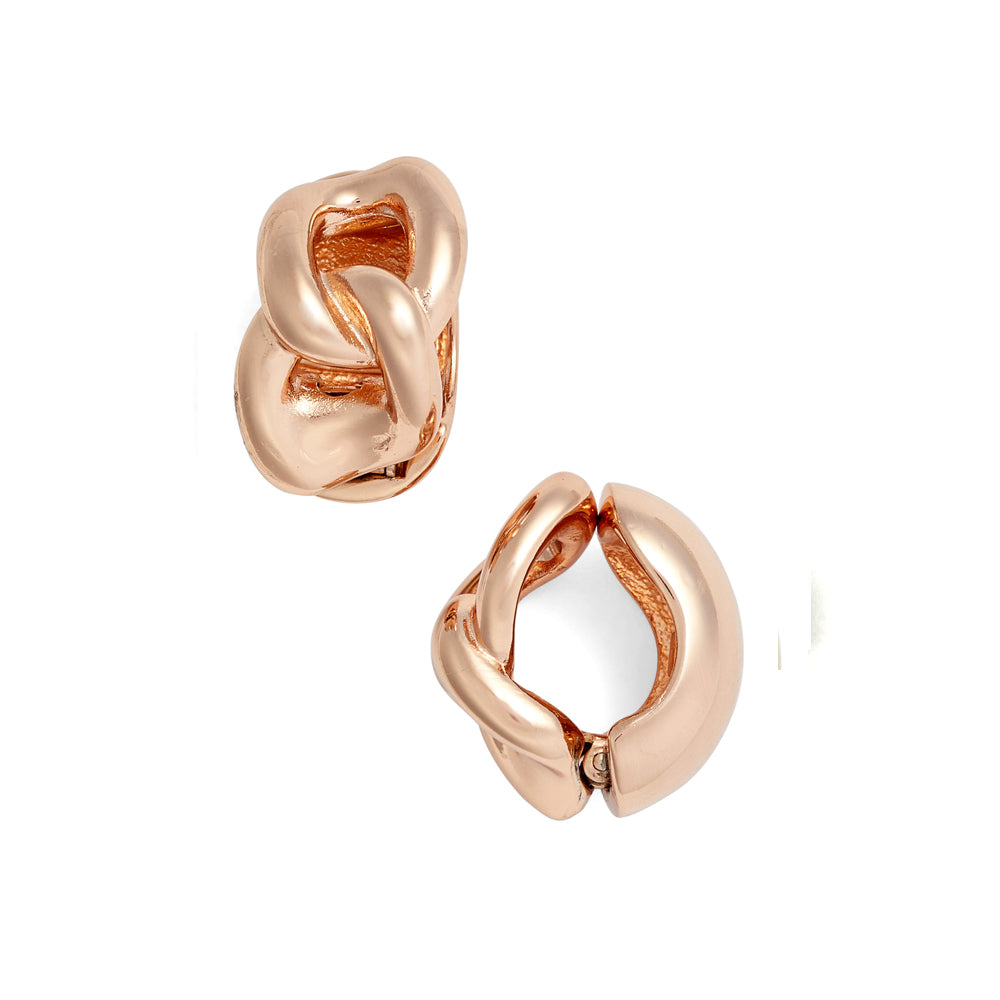 Rose Gold Tone Love Knot Reversible Hugs®