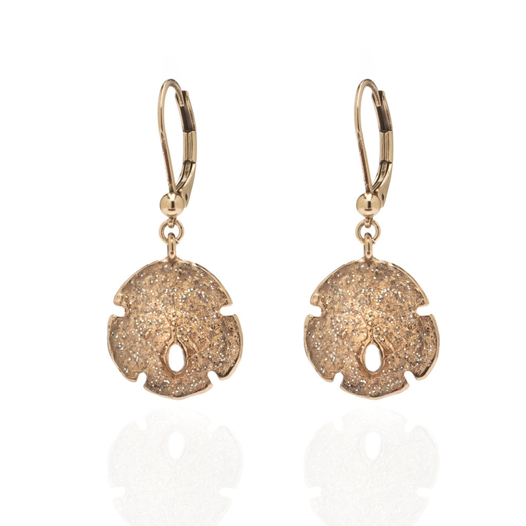 Rose Stardust Small Sand Dollar Earrings