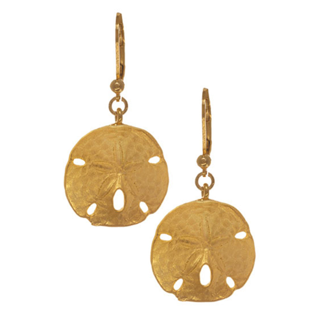 Goldtone Sand Dollar Earrings (Large)