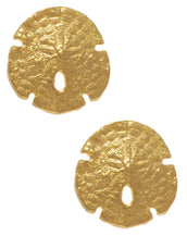 Goldtone Sand Dollar Small Earrings