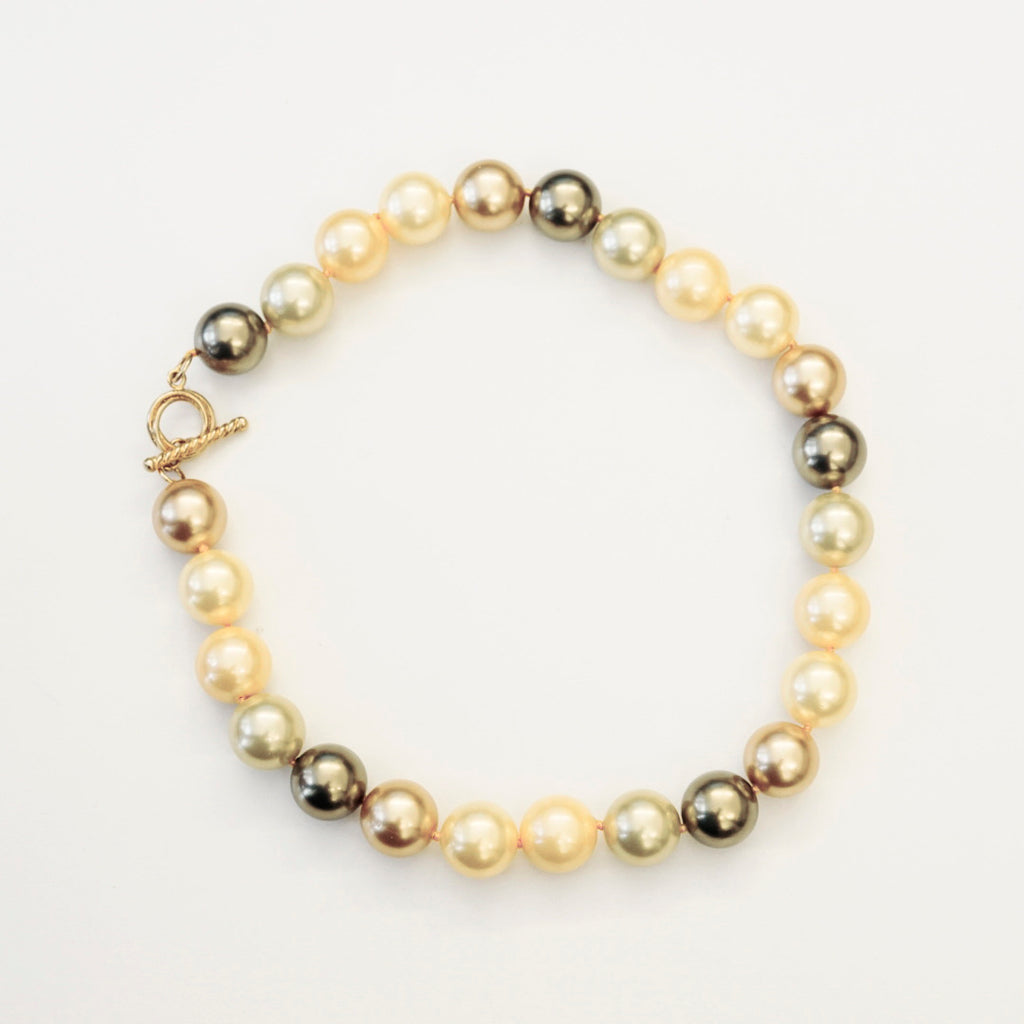"16"" 14mm Mixed Pearl Necklace"