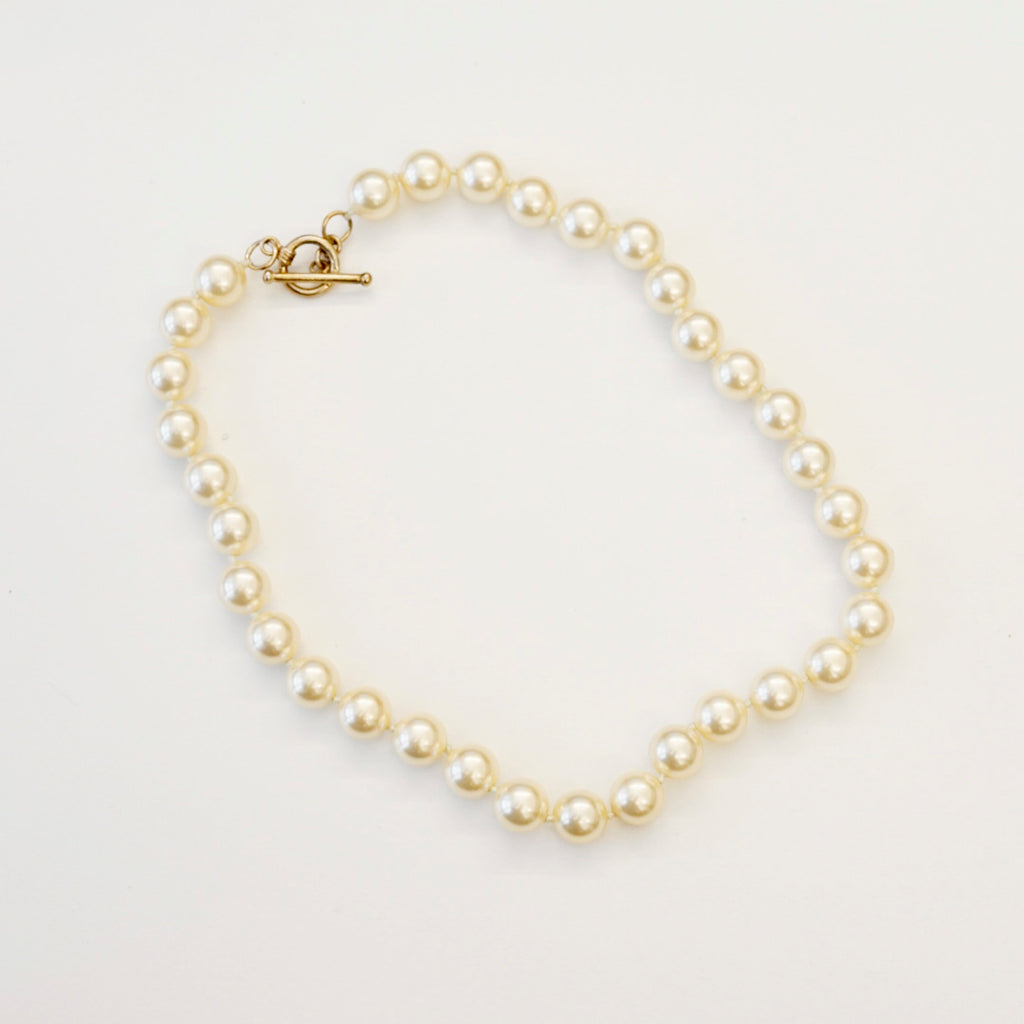 "16"" 10mm Cream Pearl Necklace"