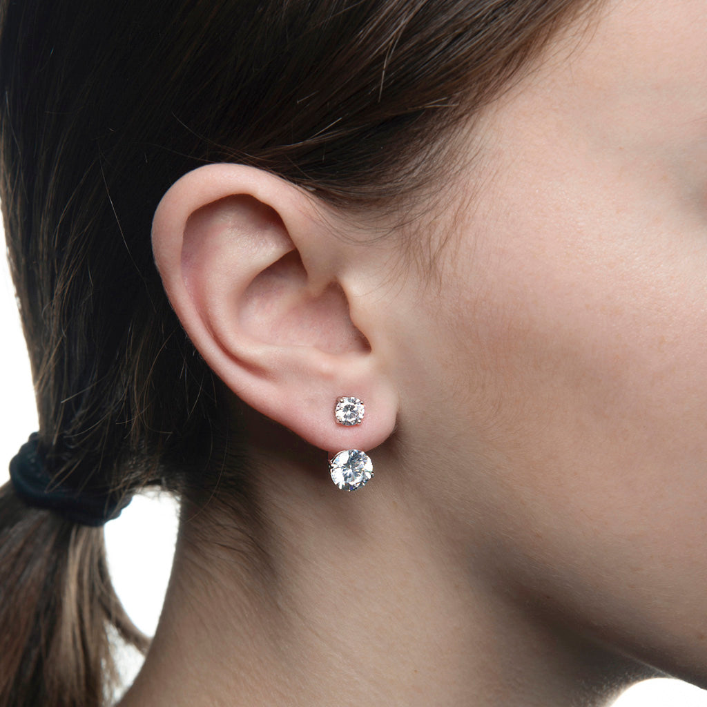 7.7 Carat Cubic Zirconia Ear Jacket Earrings