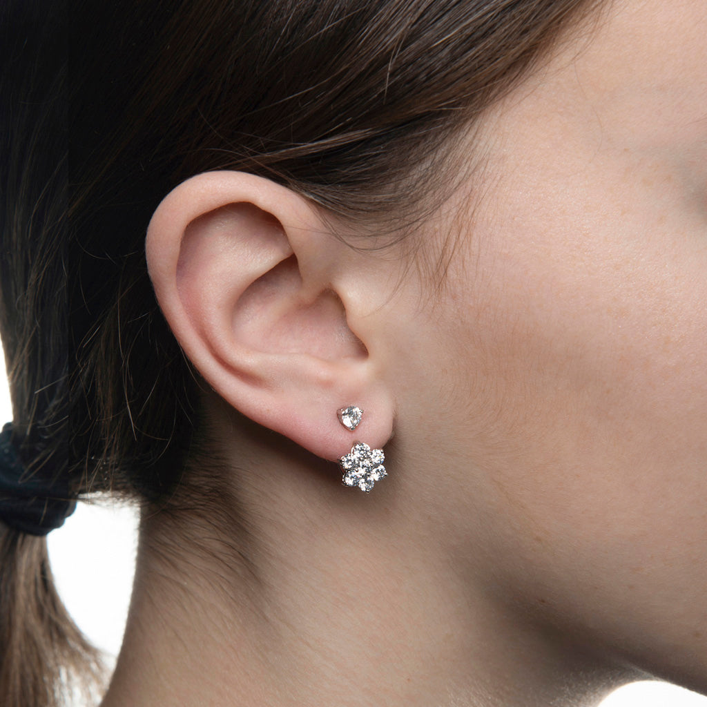 4.8 Carat Cubic Zirconia Ear Jacket Earrings