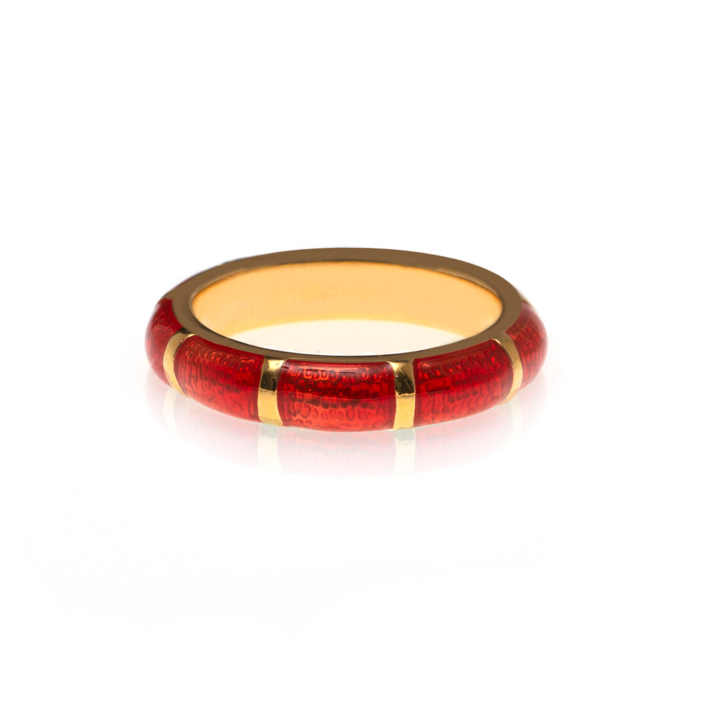 NEW  Blood Orange Segmented Bamboo Ring