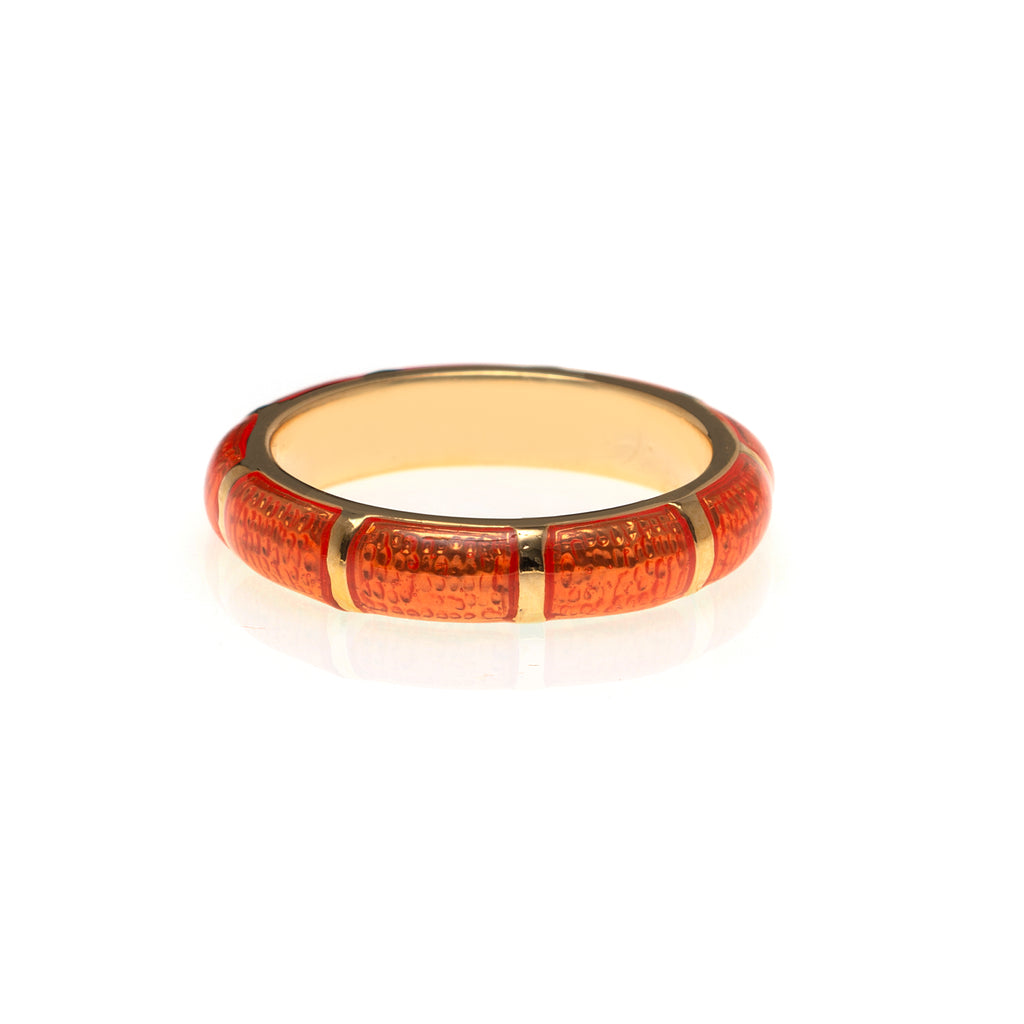NEW Tangerine Segmented Bamboo Ring