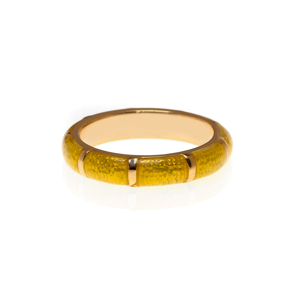 NEW Lemon Segmented Bamboo Ring