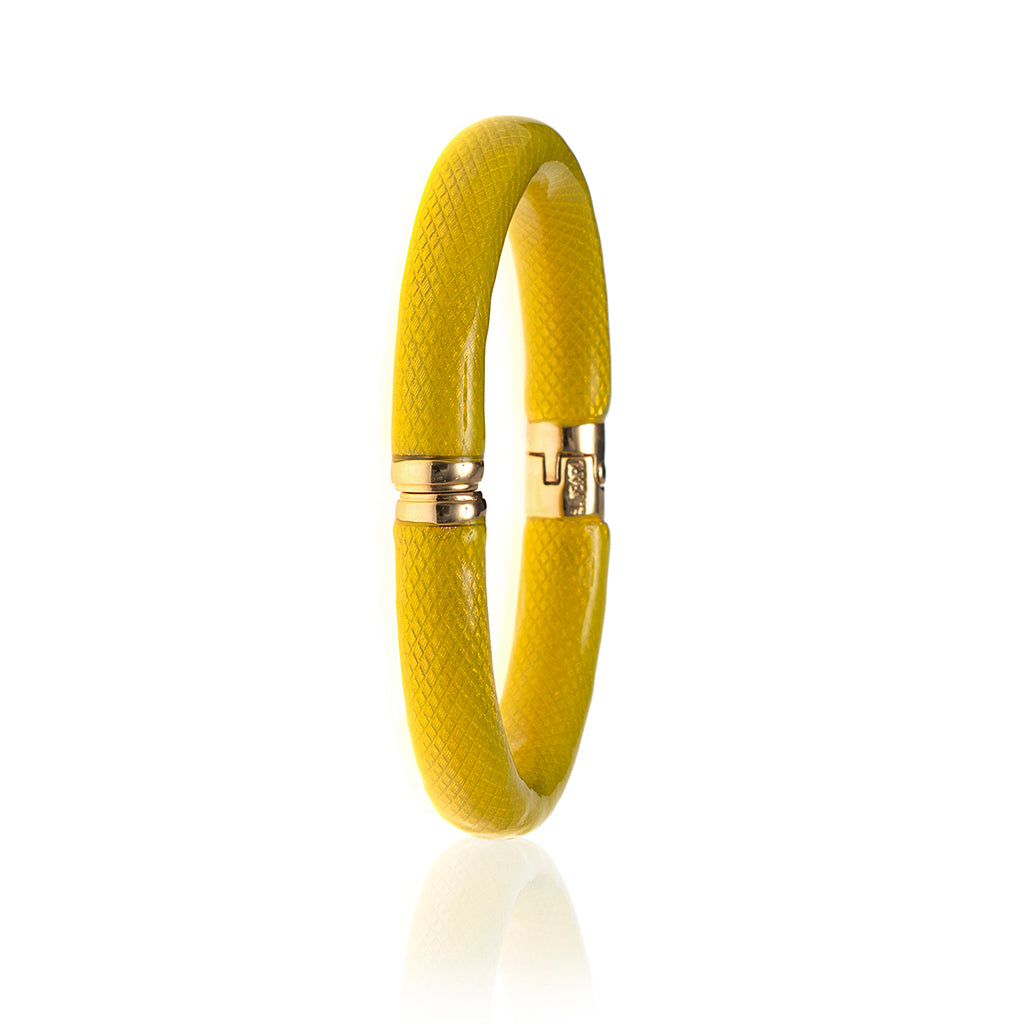 NEW Snakeskin Lemon Bangle Bracelet