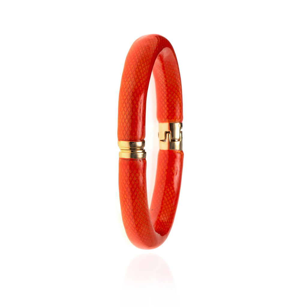 NEW Snakeskin Tangerine Bangle Bracelet