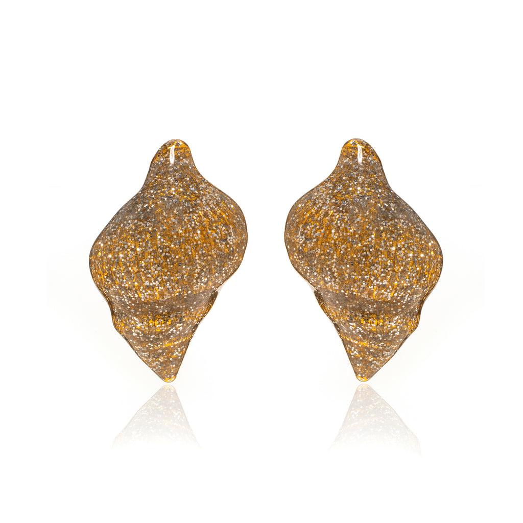 Gold Stardust Shell Earring