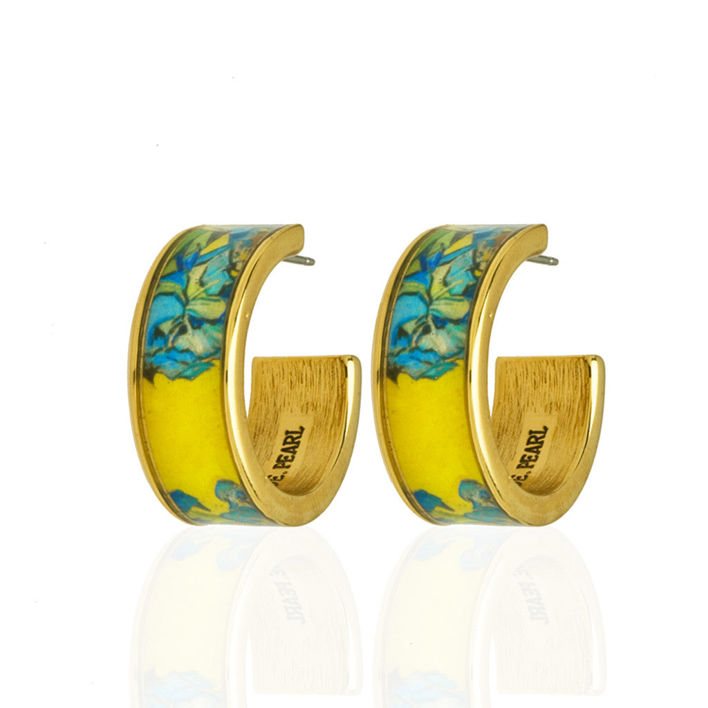 Van Gogh Irises Hoop Earrings