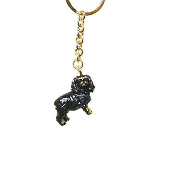 Black King Charles Span Adorable Pooch ® Keyring