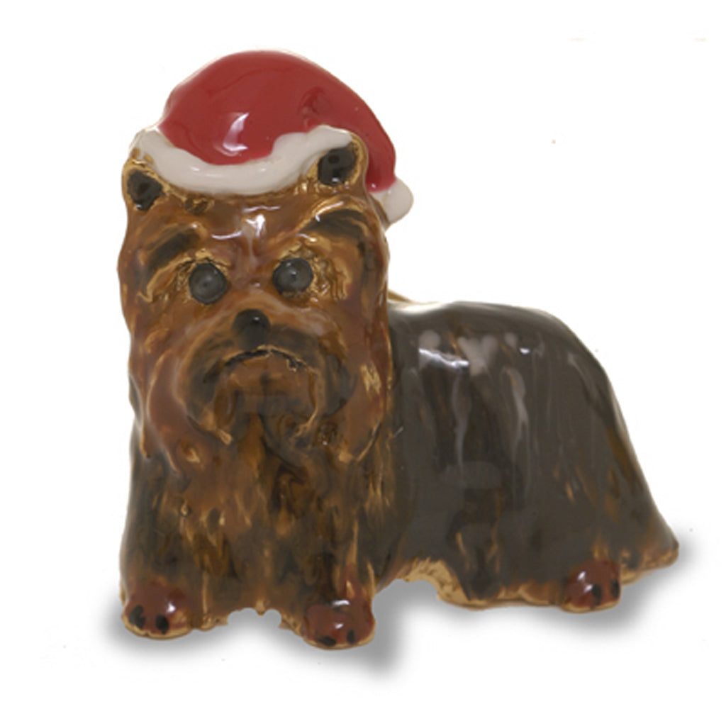 Yorkshire Terrier Christmas Adorable Pooch Pin