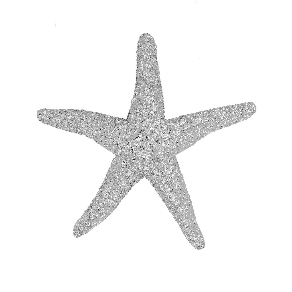 Silvertone Large Starfish Pin