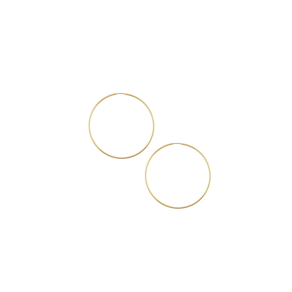 14k Gold Filled Hoops 1/2 inch Diameter