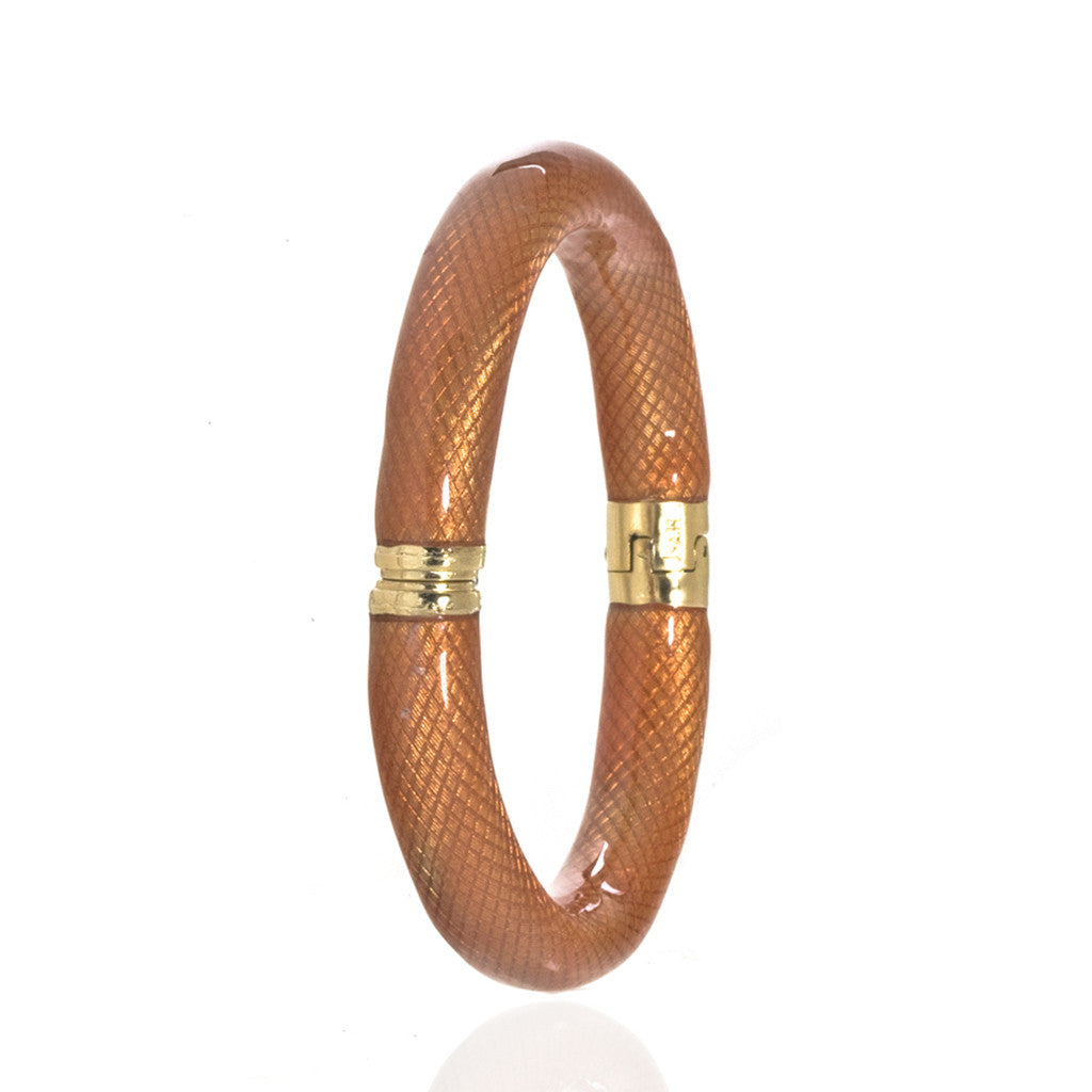 Snakeskin Orange Bangle Bracelet