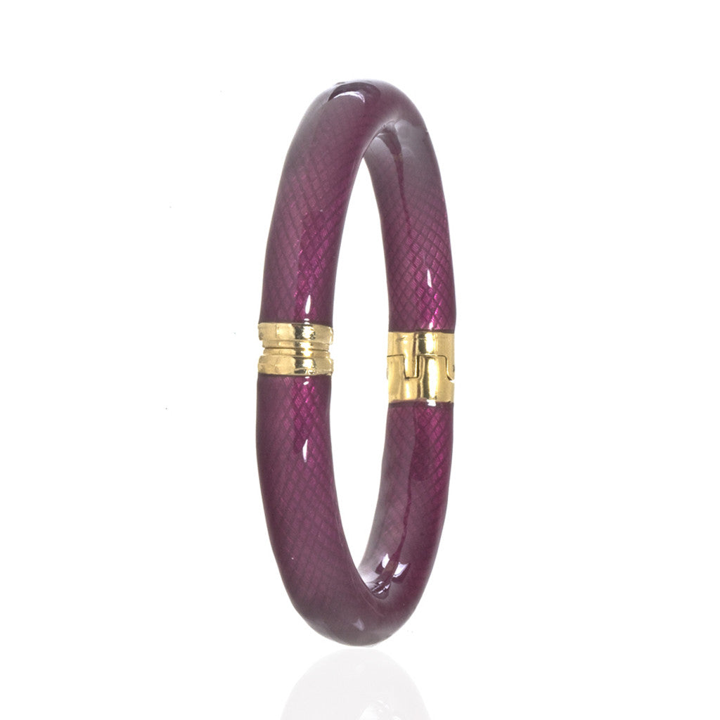 Snakeskin Fuchsia Bangle Bracelet