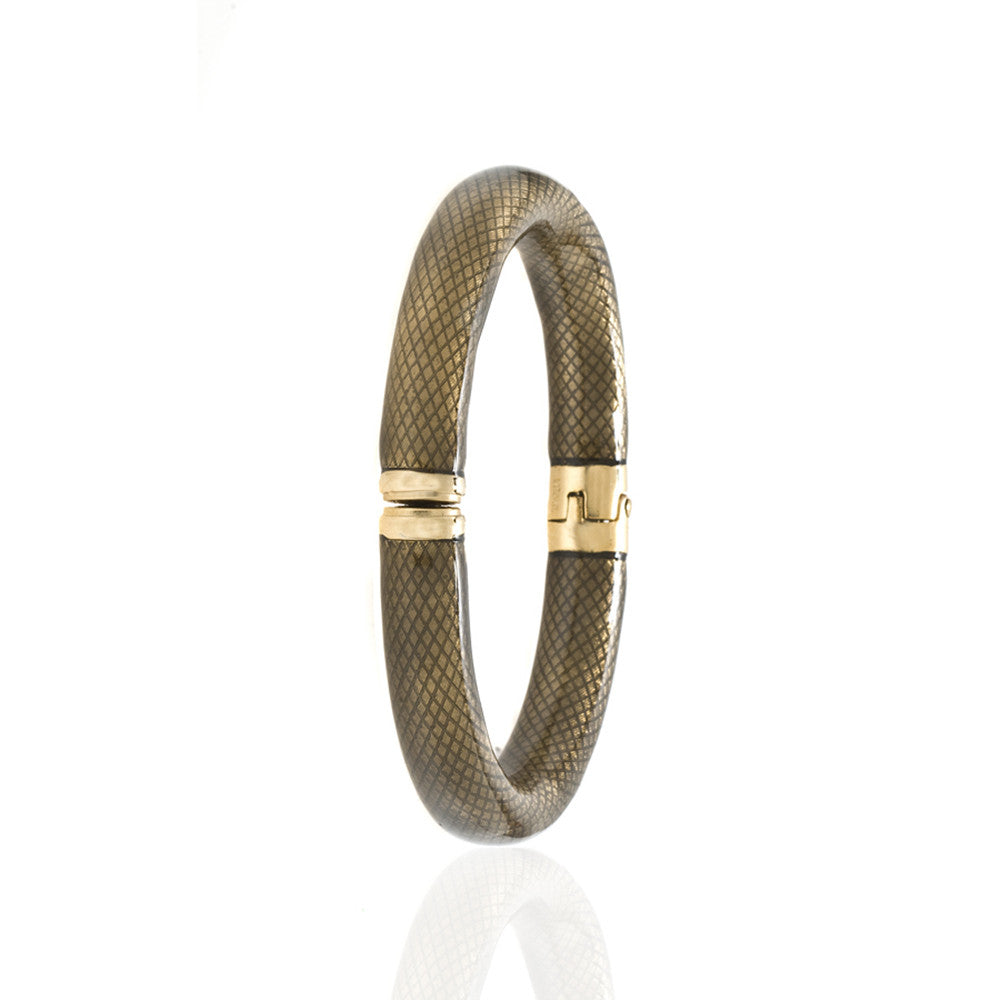 Snakeskin Translucent Black Bangle Bracelet