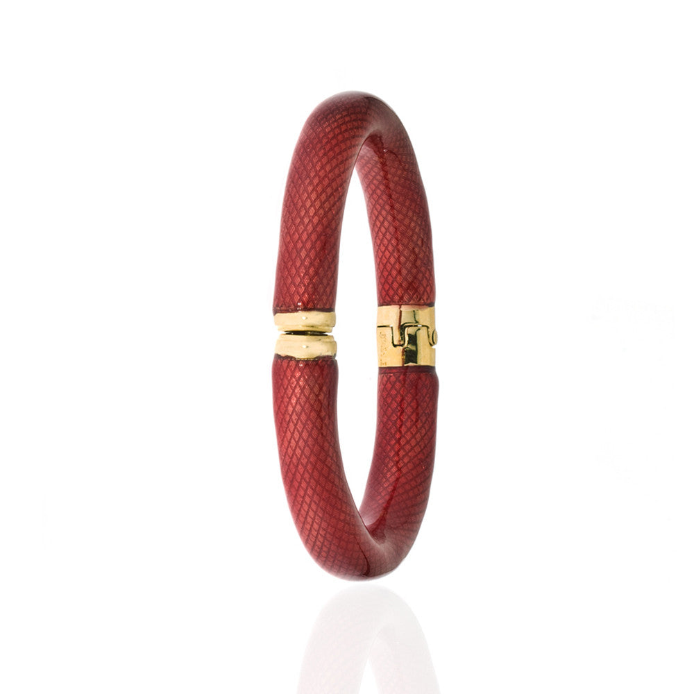 Snakeskin Translucent Crimson Bangle Bracelet
