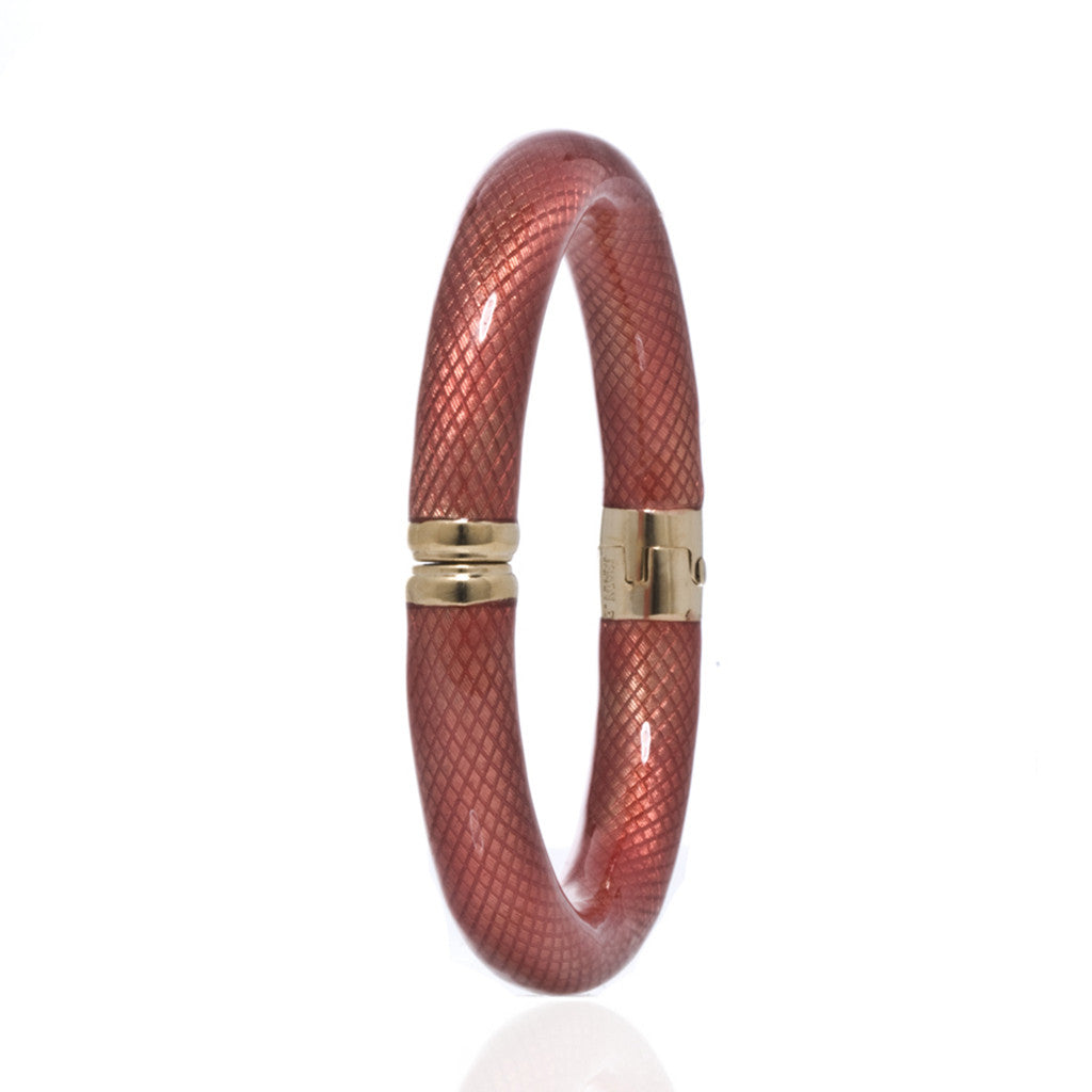Orange Bangle Bracelet Goldtone Magnetic Clasp