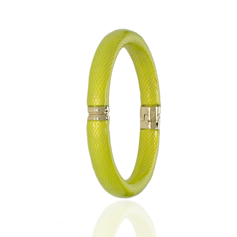 Yellow Snakeskin Bangle Bracelet