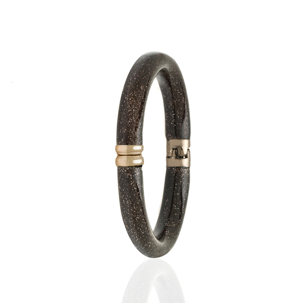 Stardust Dark Brown Snakeskin Bangle Bracelet
