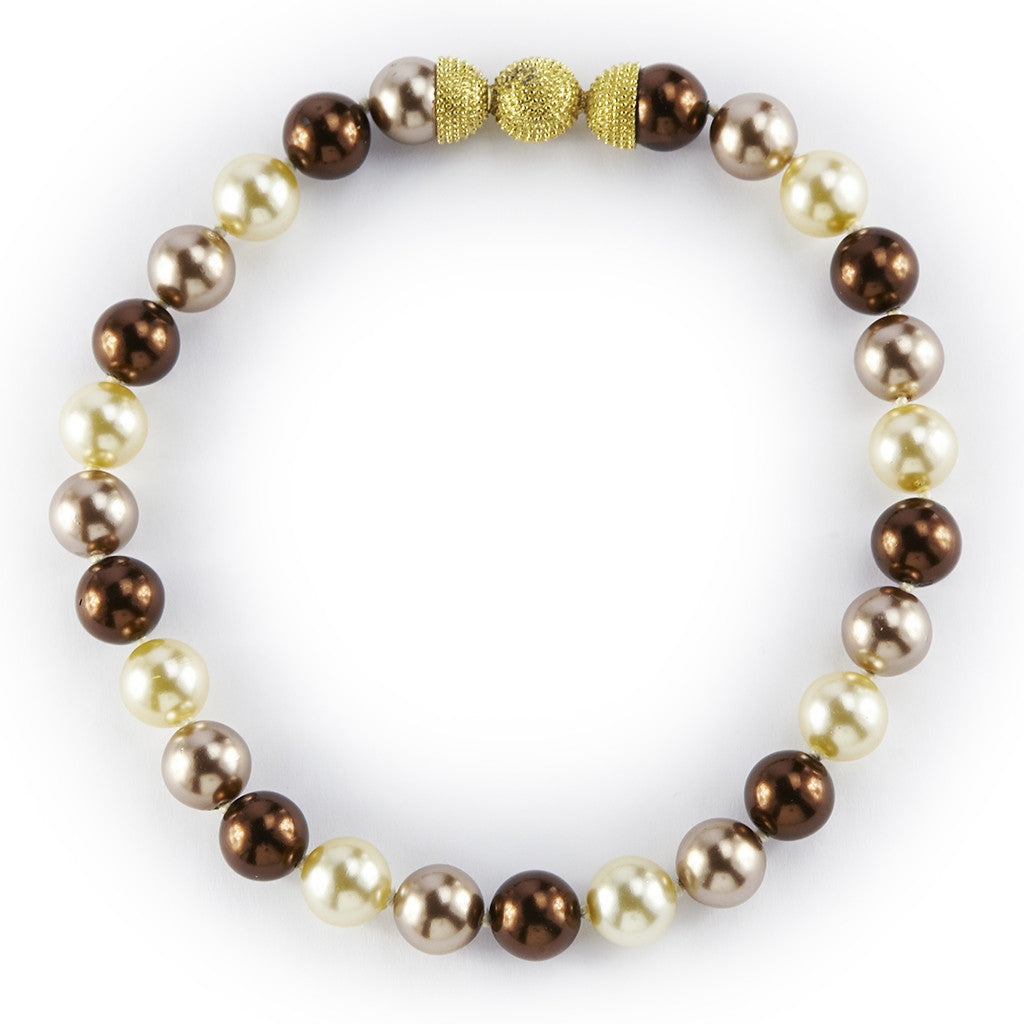 14MM Brown Rainbow Pearl Necklace 16""