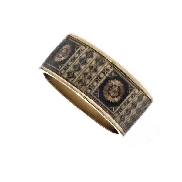 MAYA Russian Marquetry Hinge Bangle Bracelet
