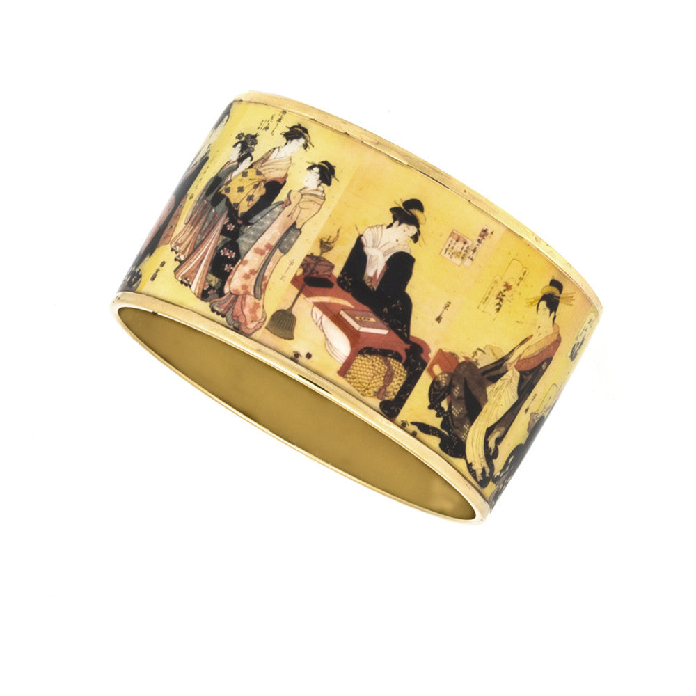 MAYA Edo Courtesans Bangle Bracelets 1 1/2""